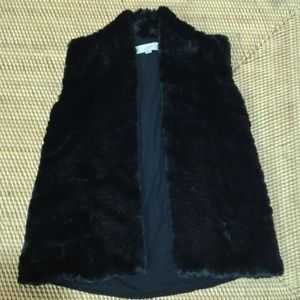 LOFT faux fur vest with knitted back size XS